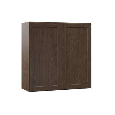 Shaker Assembled 30x30x12 in. Wall Kitchen Cabinet in Brindle