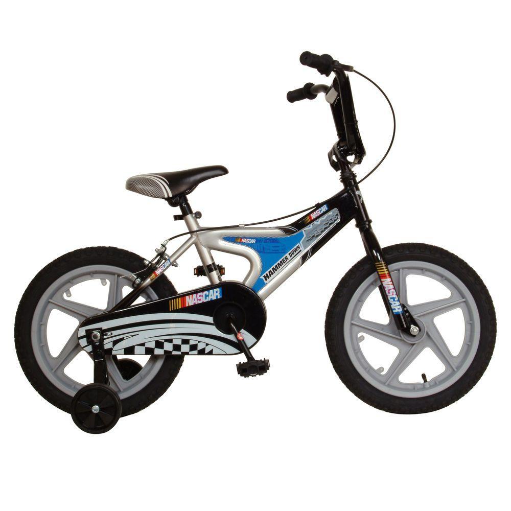 Cycle Force Hammerdown Kid's Bike, 16 in. Wheels, 11 in. Frame, Boy's Bike in Silver/Black