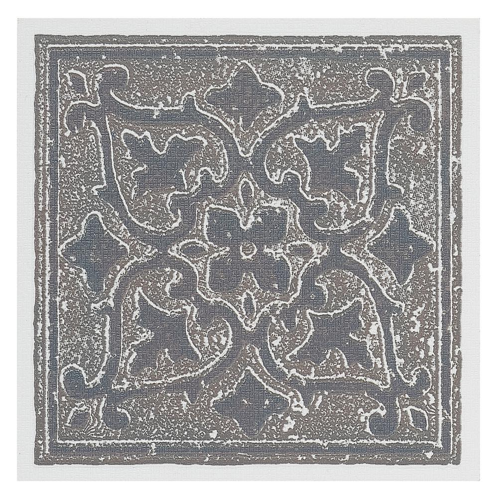 Vinyl 4 in. x 4 in. Self-Sticking Motif Wall/Decorative Wall Tile
