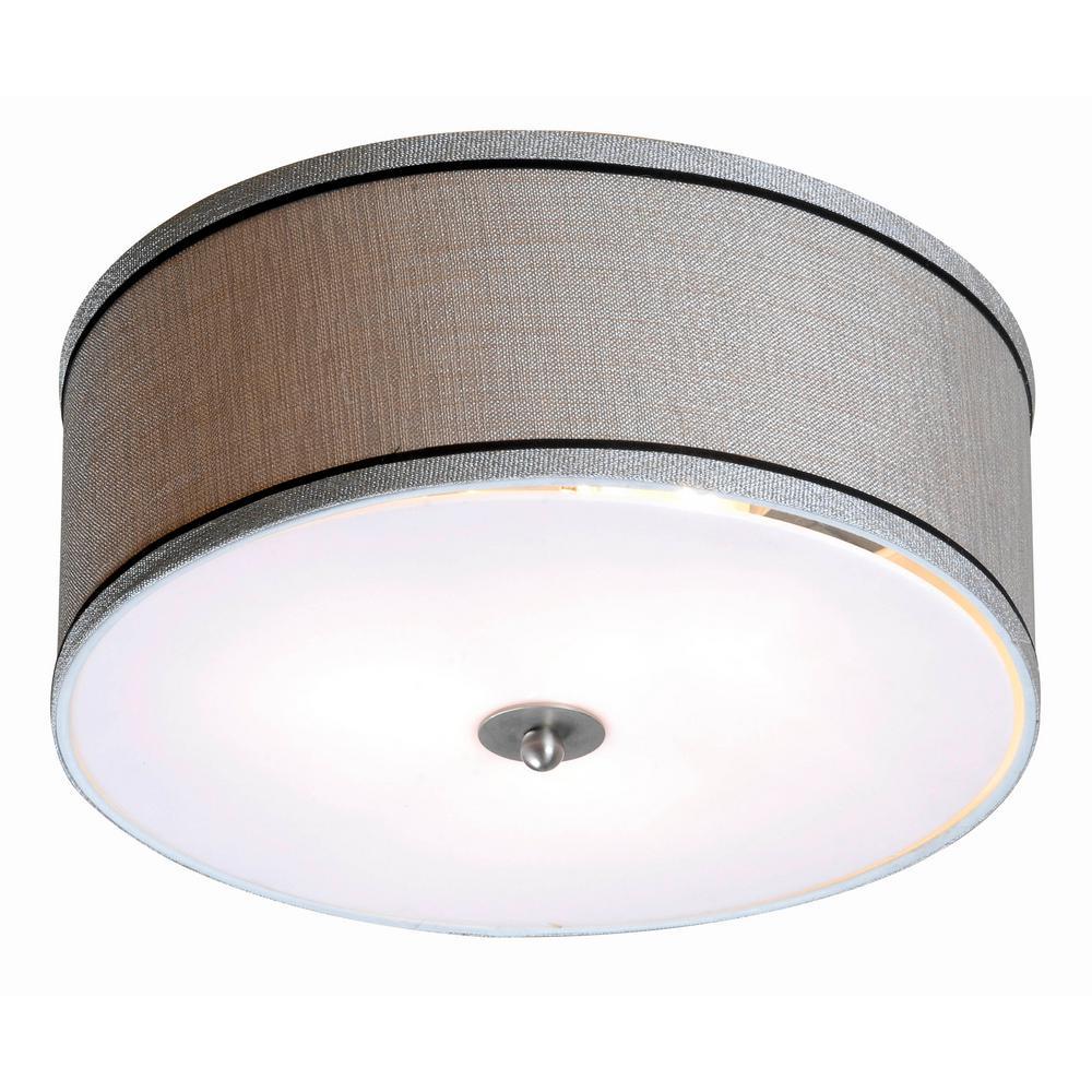 5-Light Viper Brushed Steel Finish LED Spotlight Semi-Flush Mount