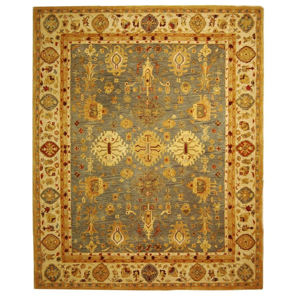 Anatolia Blue/Ivory 9 ft. x 12 ft. Area Rug