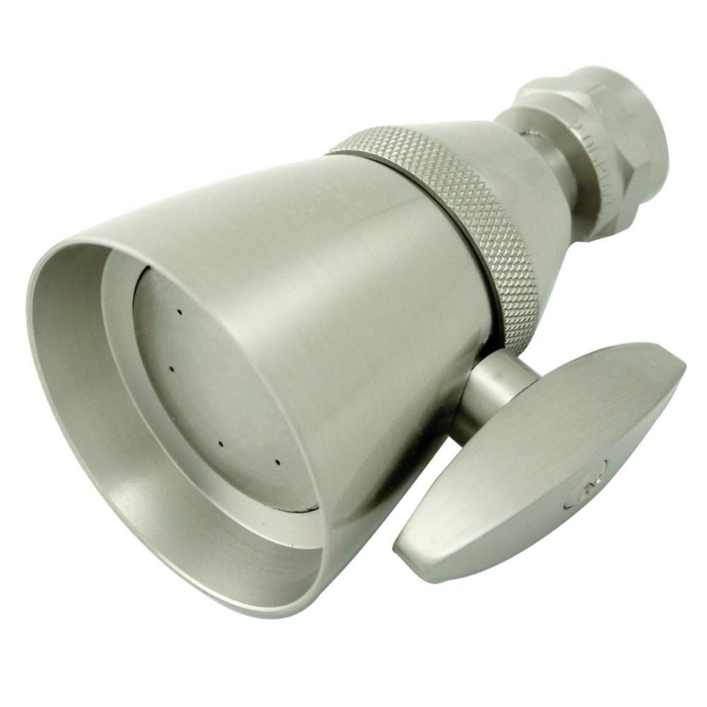 3-Spray 2.3 in. Single Wall Mount  Fixed Shower Head in Brushed Nickel