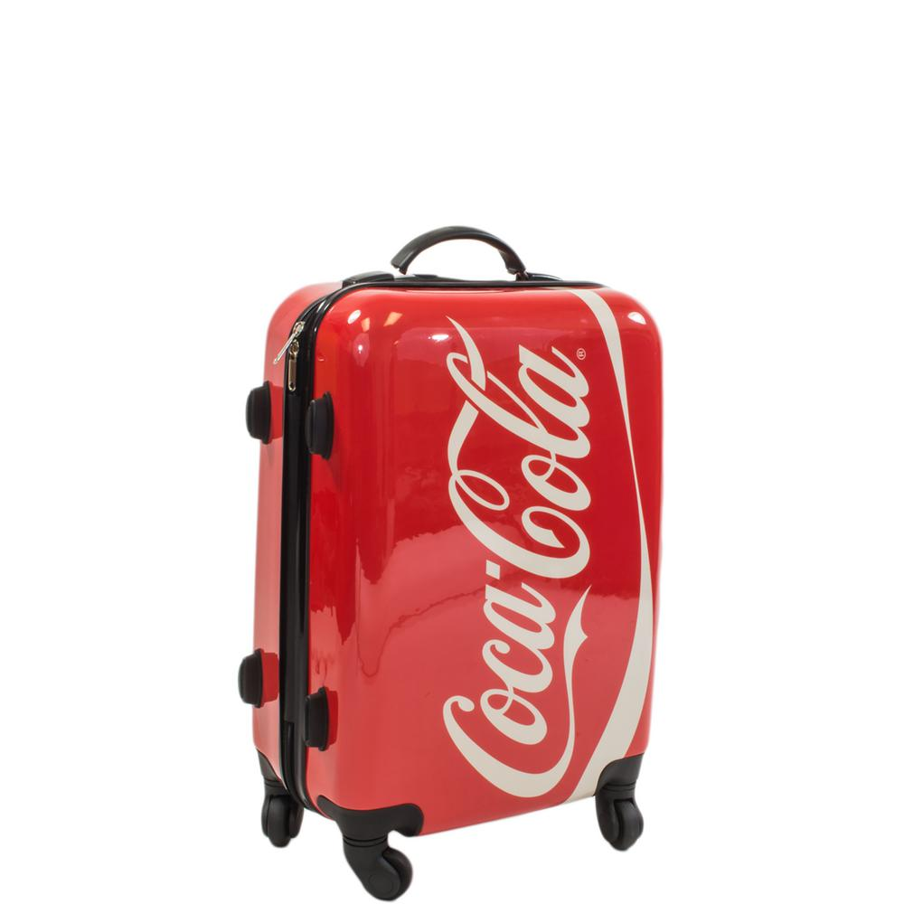 Coca Cola 21 in. Spinner Rolling Luggage Suitcase Upright Poly-Carbonate Plastic
