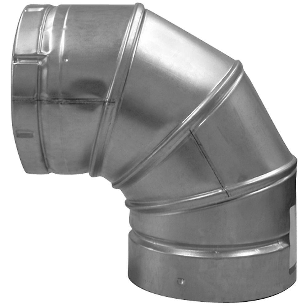 Speedi-Products 5 in. B-Vent 90-Degree Round Adjustable Elbow