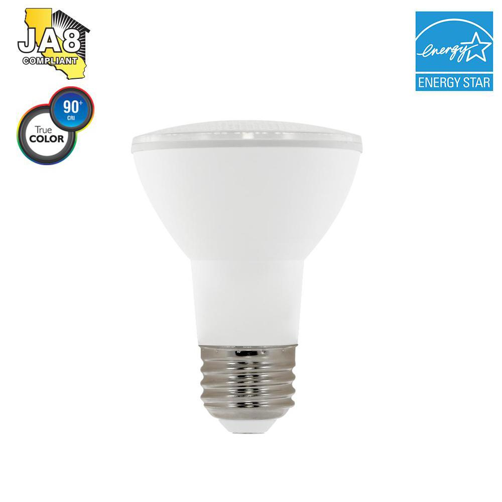 50W Equivalent PAR20 Dimmable LED Light Bulb, Warm White