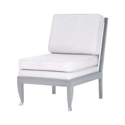 Janice Antique Smoke with Morning Mist Linen Upholstery Side Chair