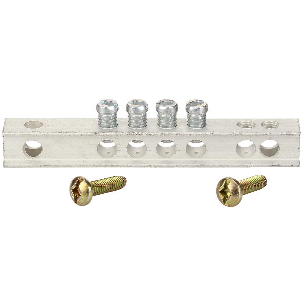 GE PowerMark Gold 4-Hole Grounding Bar Kit