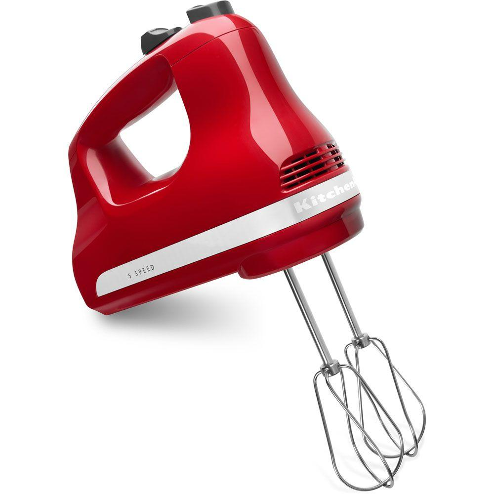 KitchenAid Ultra Power 5-Speed Empire Red Hand Mixer