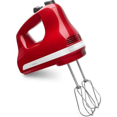 KitchenAid-Ultra Power 5-Speed Empire Red Hand Mixer with 2 Stainless Steel Beaters