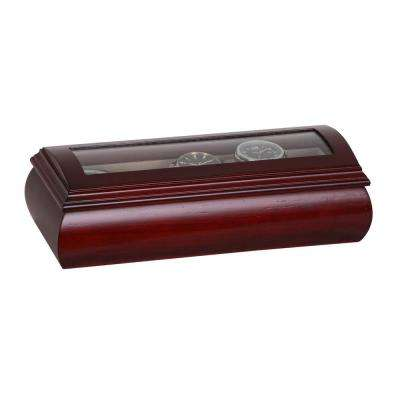 Emery Cherry Finish Wooden Watch Box