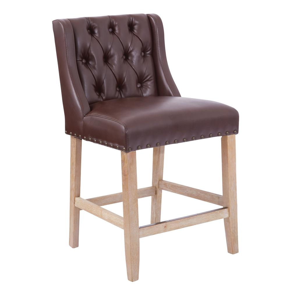 OSP Home Furnishings Kate 24 in. Cocoa Counter Stool, Brown/Cocoa OSP Home Furnishings Kate 24 in. Cocoa Counter Stool, Brown/Cocoa