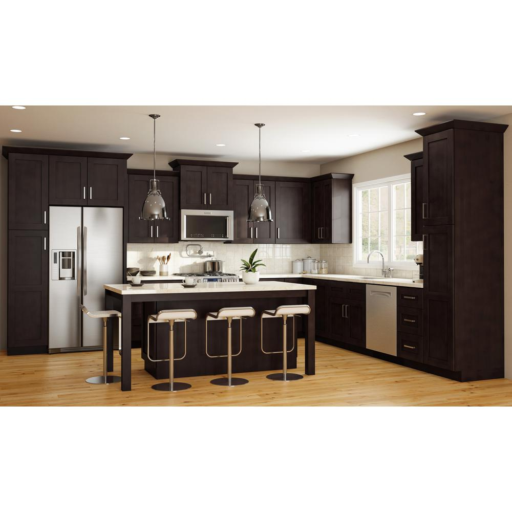 Home Decorators Collection Franklin Assembled 36x15x24 in  Double Door Wall  Kitchen Cabinet in Manganite
