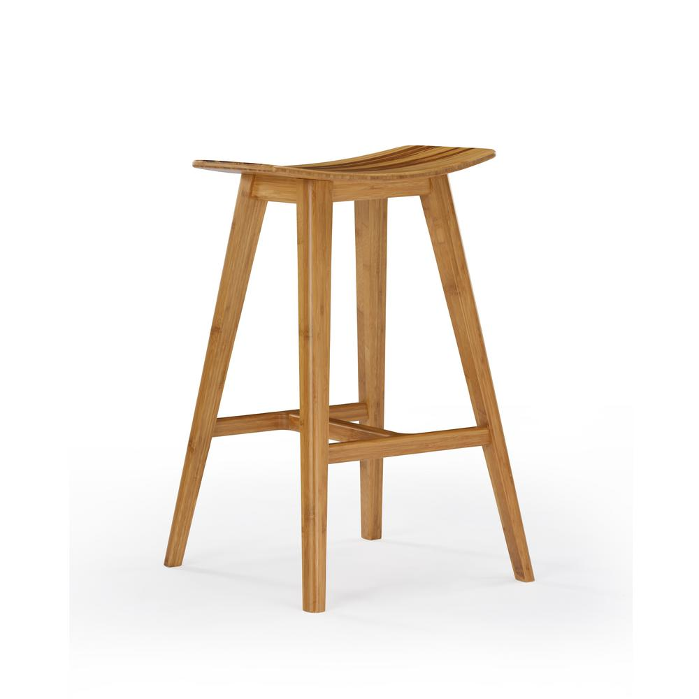 Caramelized with exotic tiger accent 100 solid classic bamboo counter stool