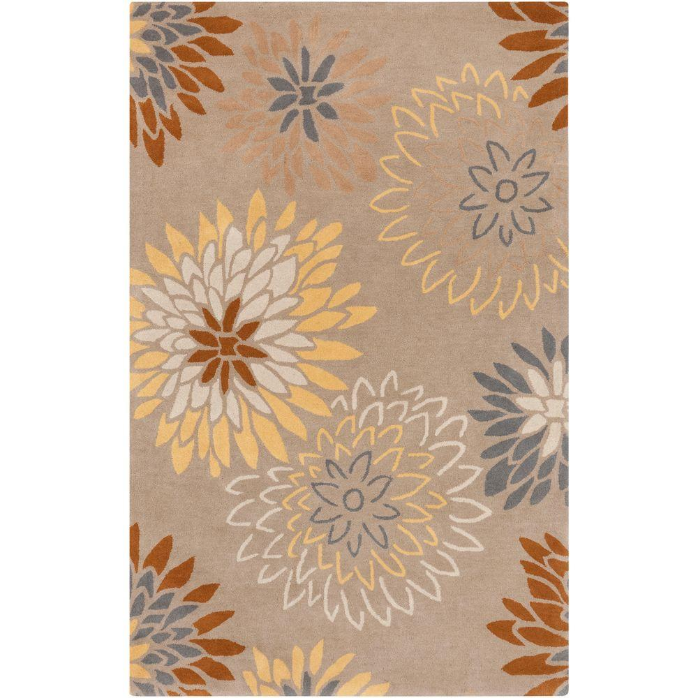 Ambrosia Light Gray 2 ft. x 3 ft. Indoor Area Rug