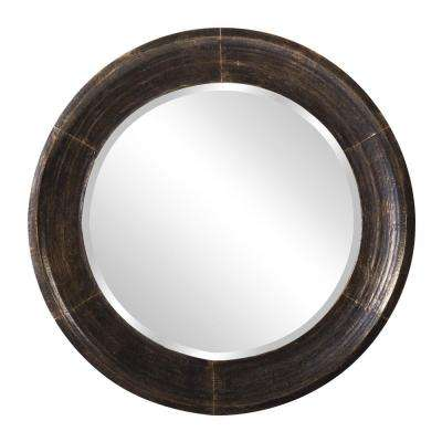 30 in. x 30 in. Montego Metal Round Mirror
