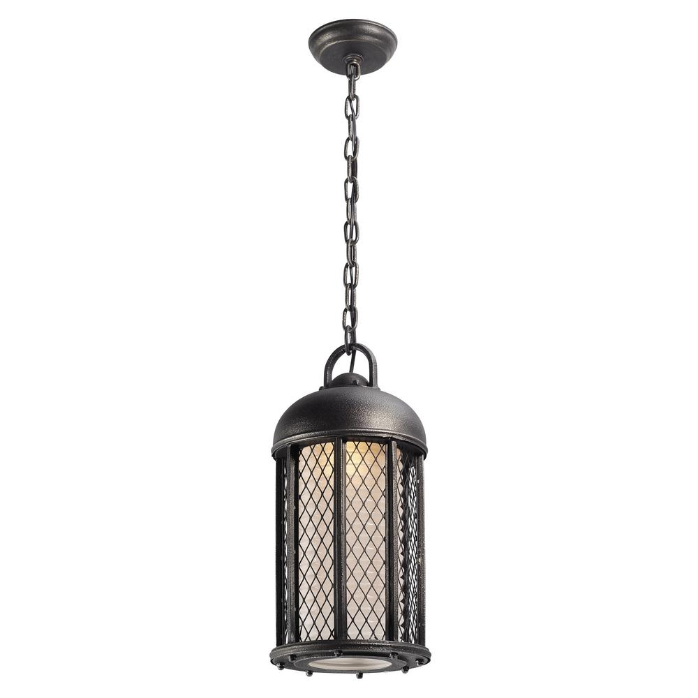Troy Lighting Signal Hill 1-Light Aged Silver Outdoor Pendant