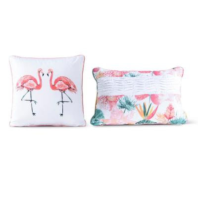 Calypso Blush Graphic Cotton 18 in. x 18 in. Throw Pillow (Set of 2)