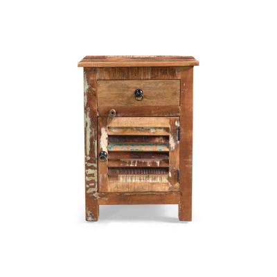 Laveer Distressed Paint Side Table
