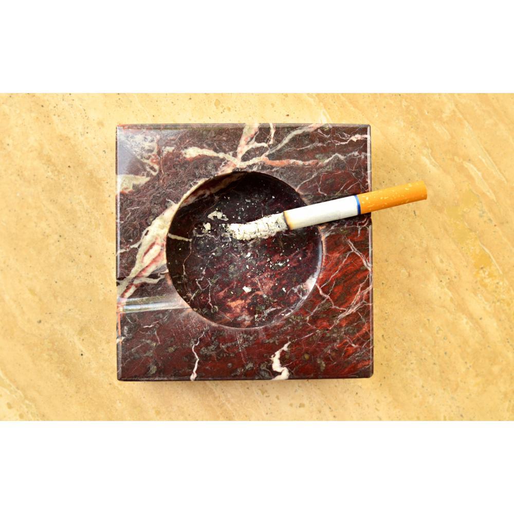 Sugilite Burgundy Onyx Stone Cigarette Ashtray
