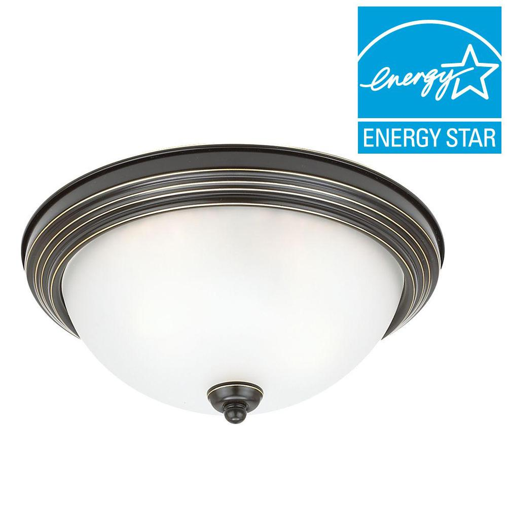 2-Light Heirloom Bronze Flushmount