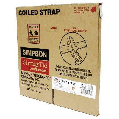 CS 150 ft. 16-Gauge Galvanized Coiled Strap