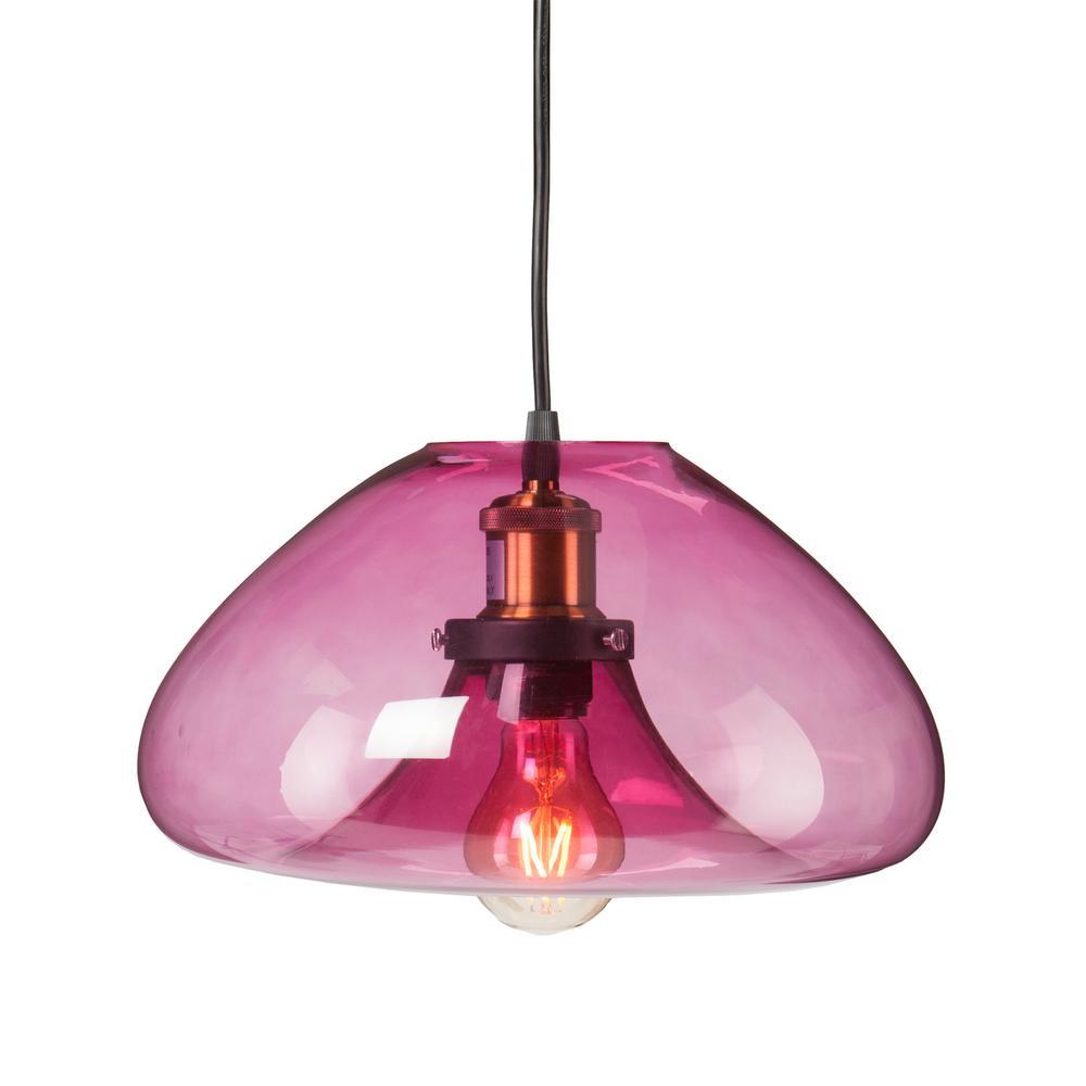 colored glass pendant lighting. keller 1light soft rose colored glass pendant lamp lighting