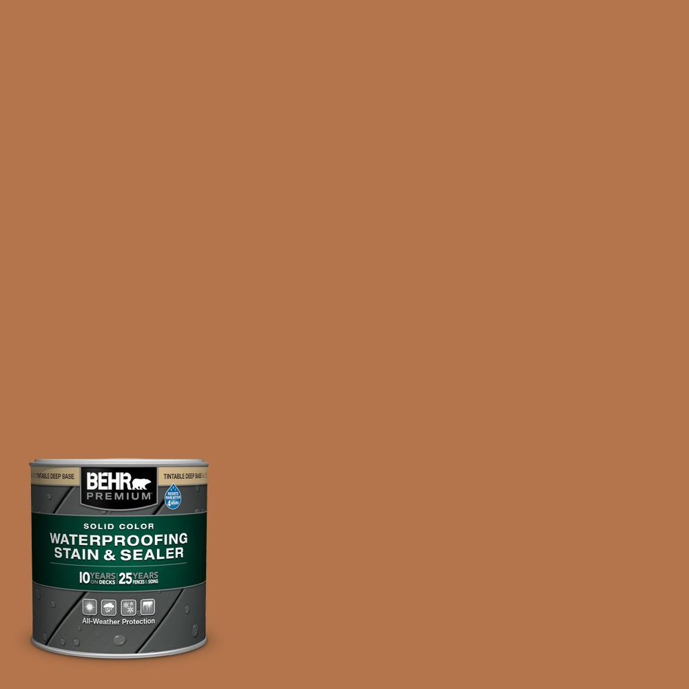BEHR Premium 8 oz. #SC-533 Cedar Naturaltone Solid Color Waterproofing Exterior Wood Stain and Sealer Sample