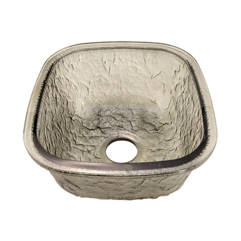 Charmant JSG Oceana Undermount Glass 17 In. 0 Hole Kitchen Sink In Black Nickel