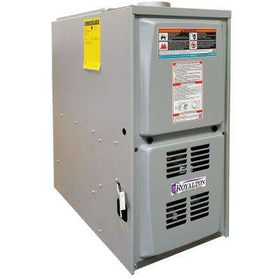 44,000 BTU 80% AFUE Single-Stage Downflow Forced Air Natural Gas Furnace with PSC Blower Motor