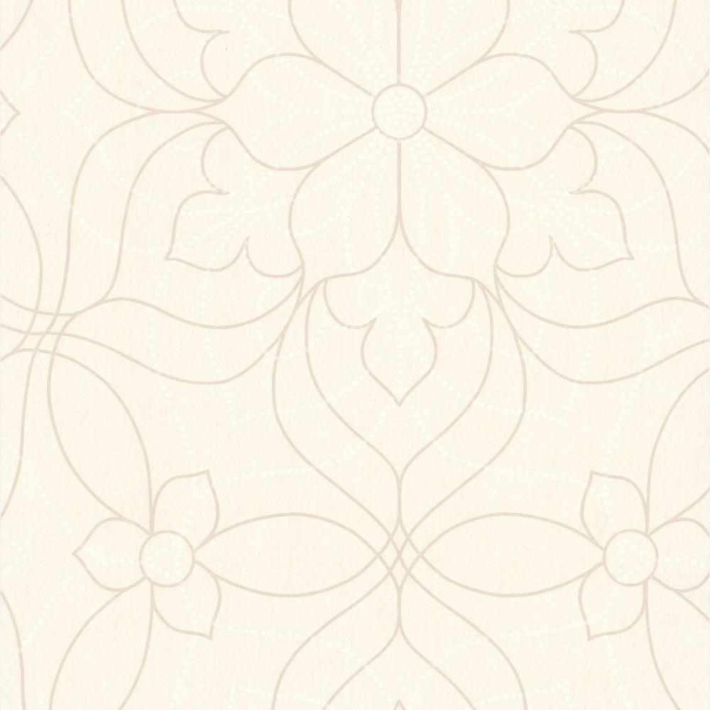 null Charlotte Pearl Modern Floral Wallpaper