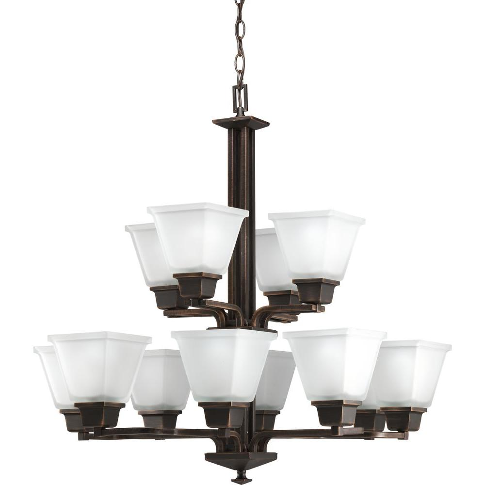 Venetian Bronze Chandelier: Progress Lighting North Park Collection 12-Light Venetian
