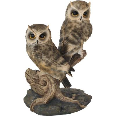 13 in. Watchful Owls Outdoor Garden Statue