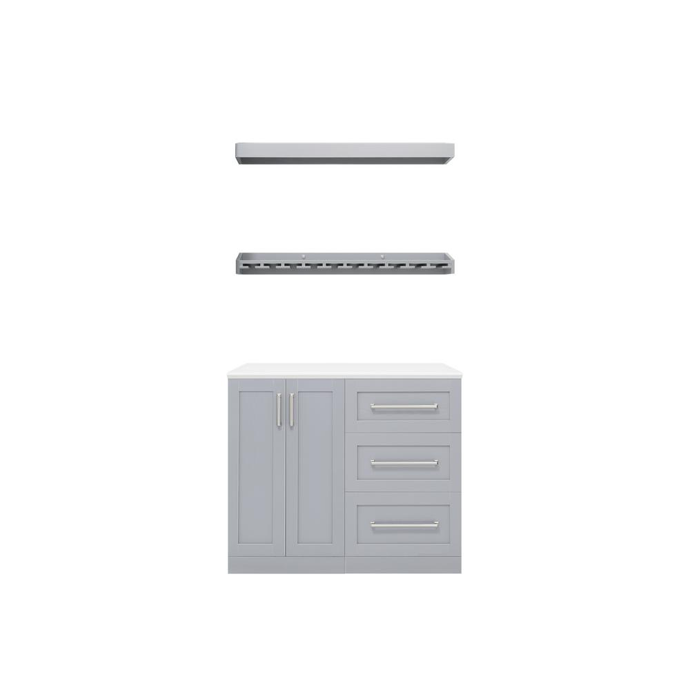 NewAge Products Home Bar 21 in. Gray Cabinet Set (5-Piece) was $1459.99 now $999.99 (32.0% off)