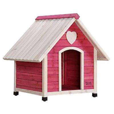 2.2 ft. L x 2.7 ft. W x 2.6 ft. H Arf Frame Pink Medium Dog House