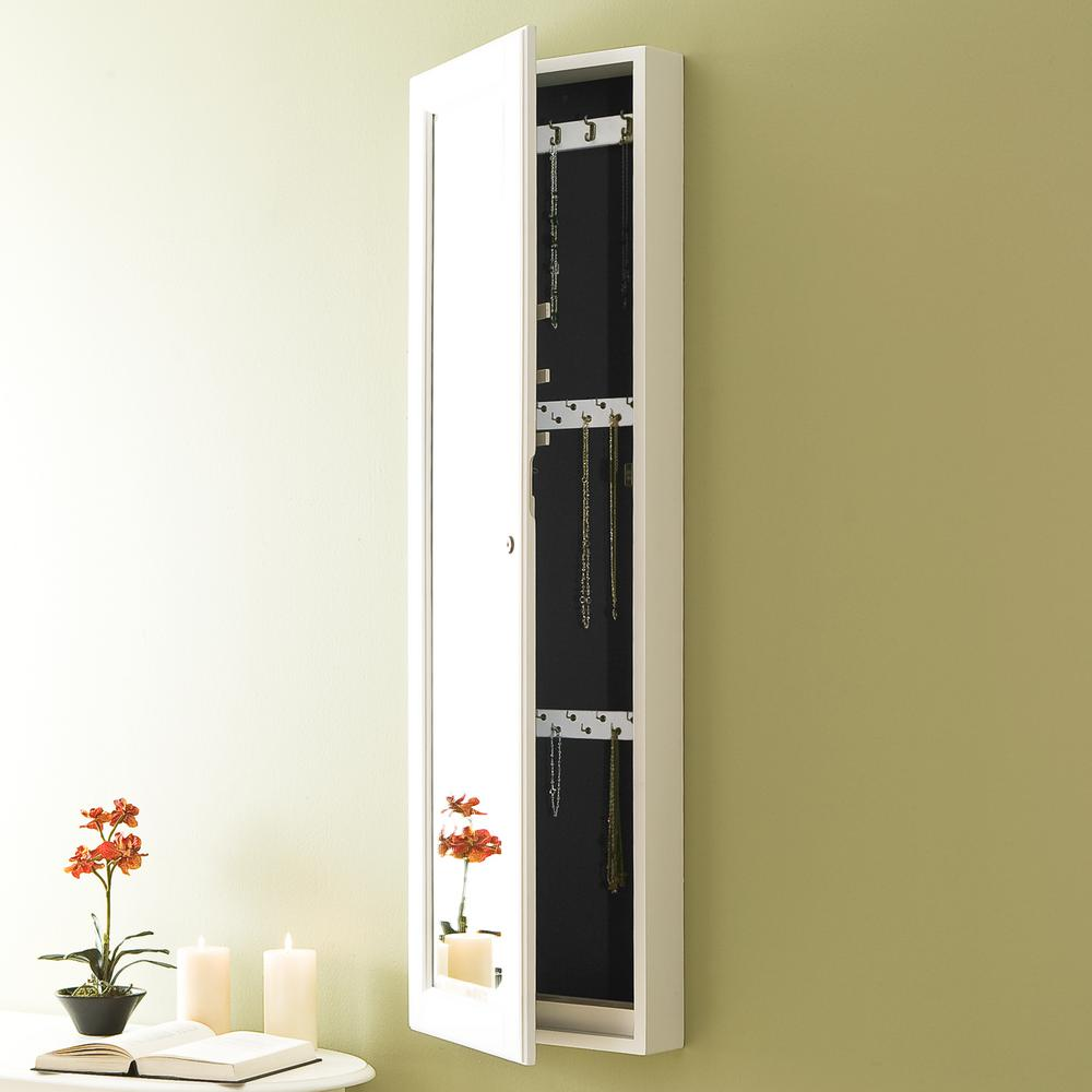 Over The Door Mirrored Jewelry Cabinet Compare Prices At Nextag