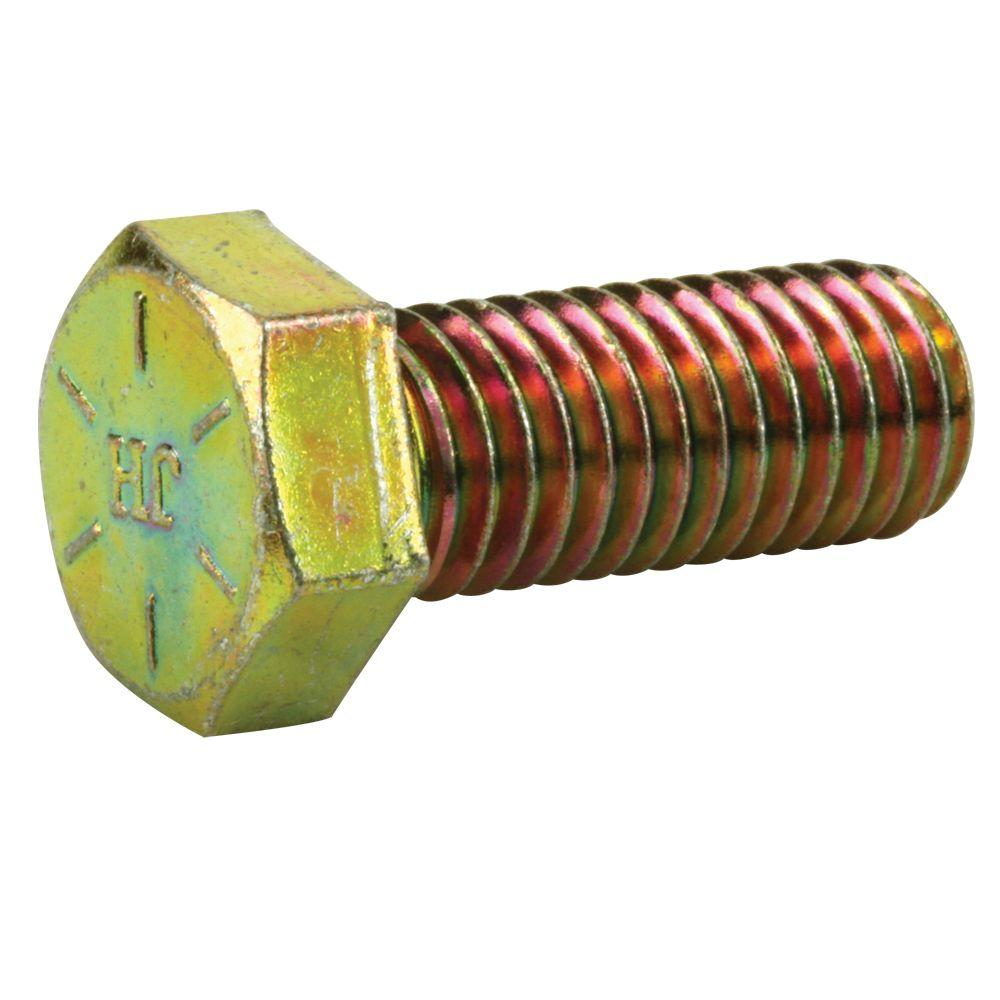 3/8 in.-24 x 3 in. Yellow Zinc Grade 8 Hex Bolt