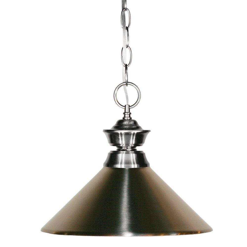 Lawrence 1-Light Brushed Nickel Incandescent Ceiling Pendant
