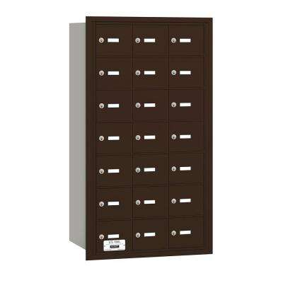 Bronze USPS Access Rear Loading 4B Plus Horizontal Mailbox with 21A Doors
