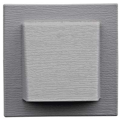 8 in. x 7.875 in. Water Management 4 in Hooded Vent in Gray