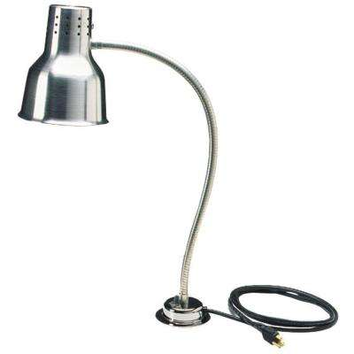24 in. H Heat Lamp Only Single Flex Arm in Aluminum Finish