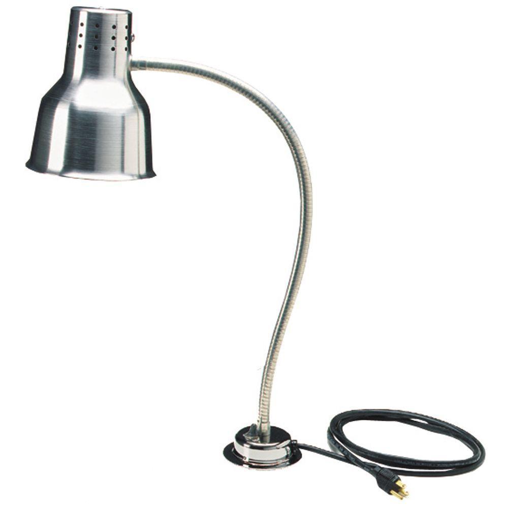 24 in. H Heat Lamp Only Single Flex Arm in Aluminum Finish
