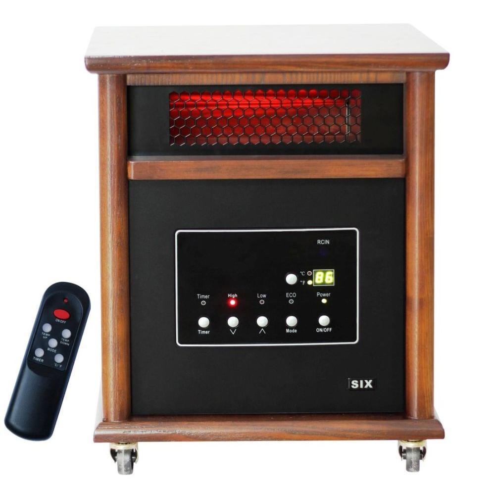 Lifesmart Ultimate 1800 sq.ft. 1500 Watt 6 Element Infrared Quartz Portable Heater-DISCONTINUED