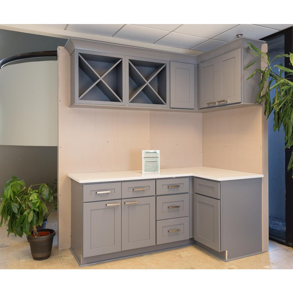 LIFEART CABINETRY Shaker Assembled 24 in. x 96 in. x 27 in. Tall Pantry  with 4 Doors in Gray