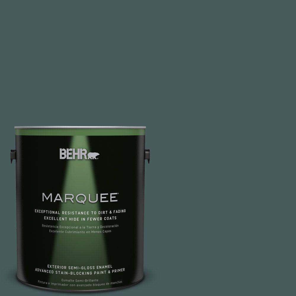 1-gal. #N430-7 Silken Pine Semi-Gloss Enamel Exterior Paint
