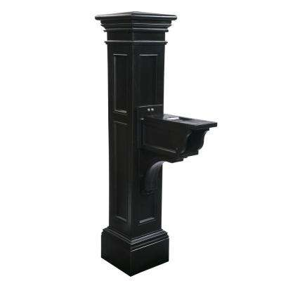 Estate Series Plastic Mailbox Post, Black