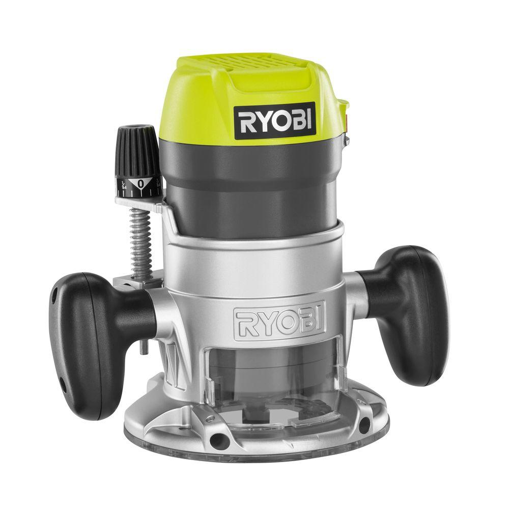 ryobi reconditioned 1 4 in collet 8 5 amp corded fixed base router zrr163gk the home depot. Black Bedroom Furniture Sets. Home Design Ideas