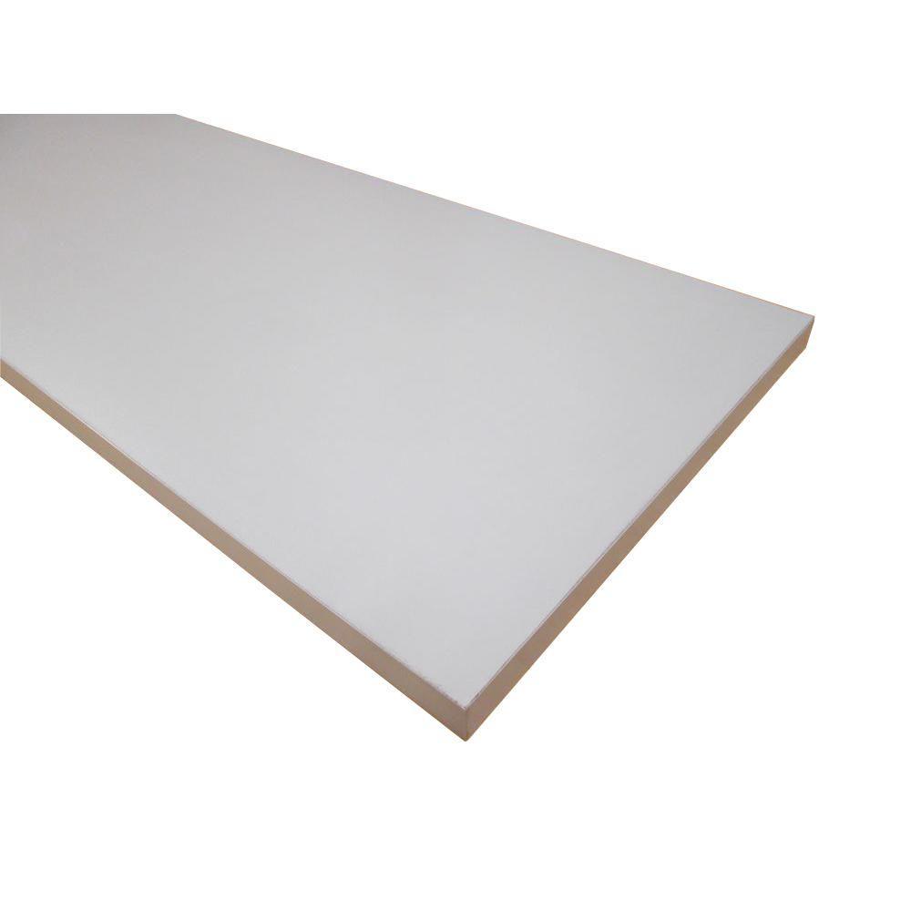 null 3/4 in. x 16 in. x 48 in. Folkstone Grey Thermally-Fused Melamine Shelf