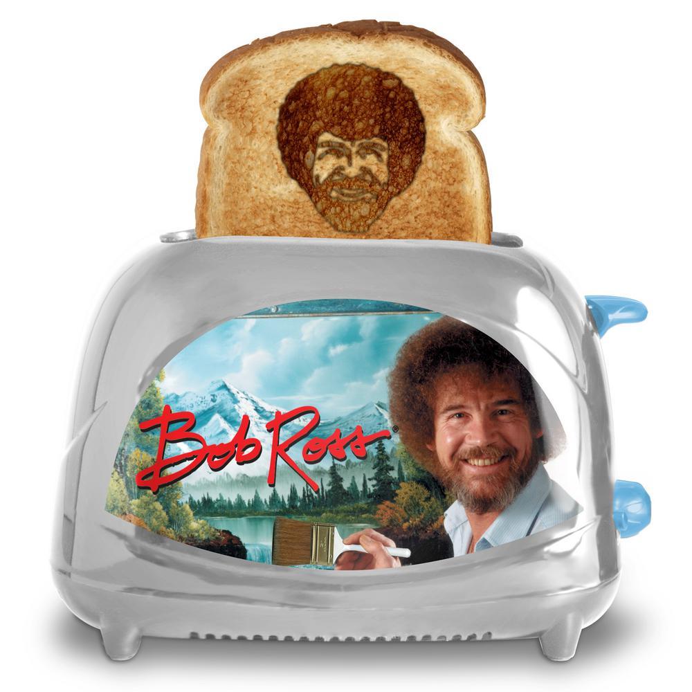 Bob Ross 2-Slice Silver Toaster