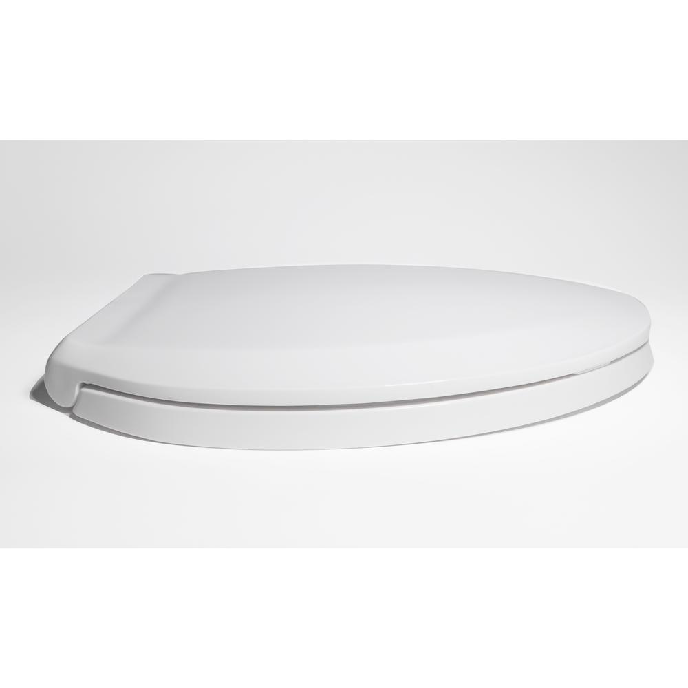 White Centoco 800STSS-001 Plastic Elongated Toilet Seat with Closed Front