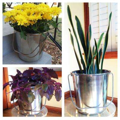 Small Stainless Steel Bucket Set (3-Pack)